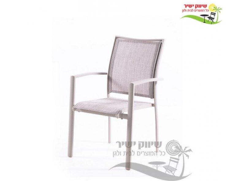 4 כסא אלומיניום דגם בונדי אבן