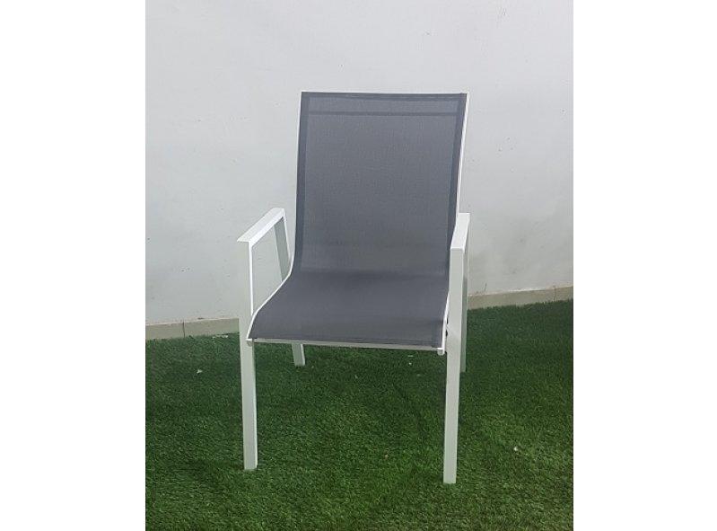 4 כסא אלומיניום דגם חן לבן