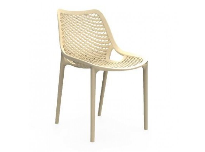 4 כסא פלסטיק מעוצב גב רשת