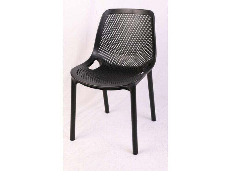 כסא פלסטיק מעוצב גב רשת