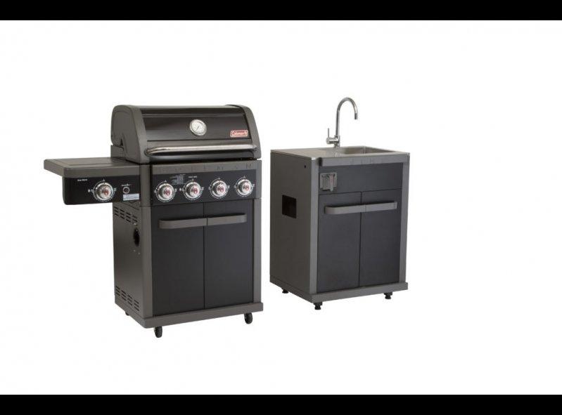גריל גז מטבח + כיור דגם רבולושן 4 שחור