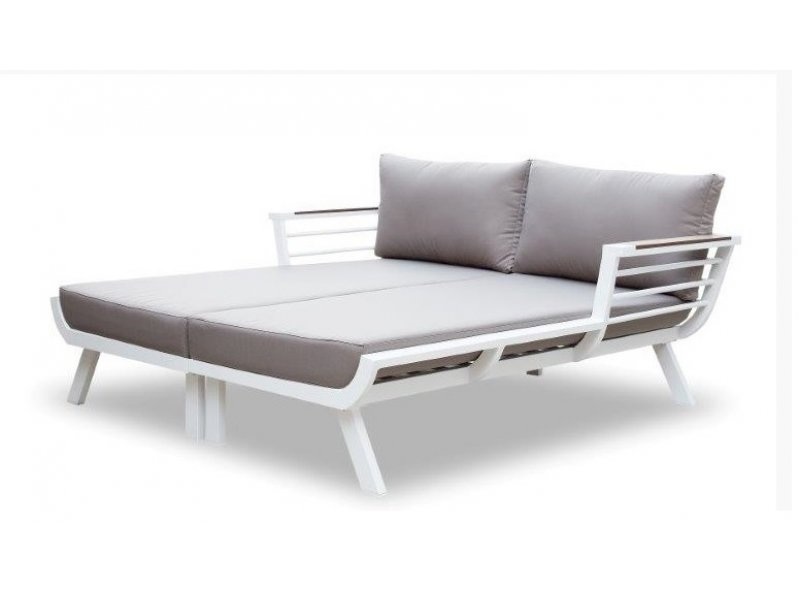 מיטת שיזוף זוגית דגם ונצואלה לבן