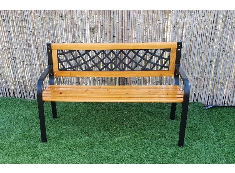 ספסל עץ מתכת 1