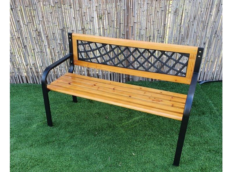 ספסל עץ מתכת 3