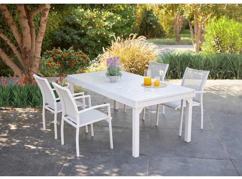 שולחן ג'וי 200 320 ו4 בונדי לבן