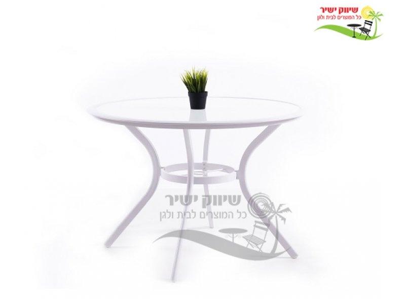 שולחן 105 עגול לבן 1