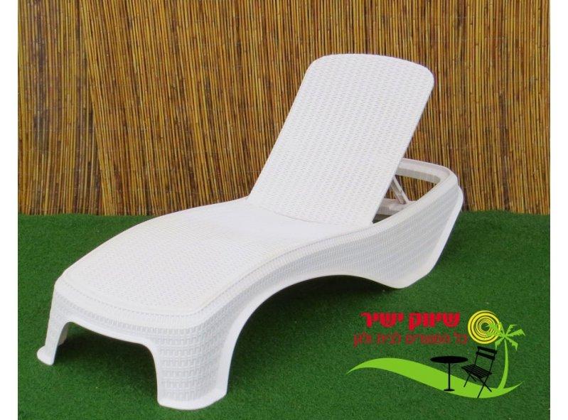 מיטת שיזוף דגם אטלנטיק לבן
