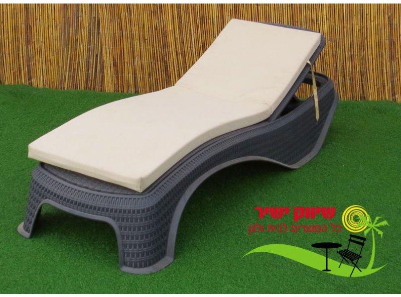 מיטת שיזוף דגם אטלנטיק אפור