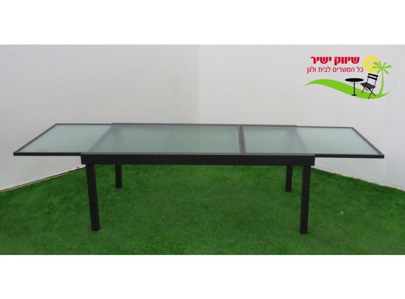 שולחן אלומניום 105*200 נפתח ל-320 אפור