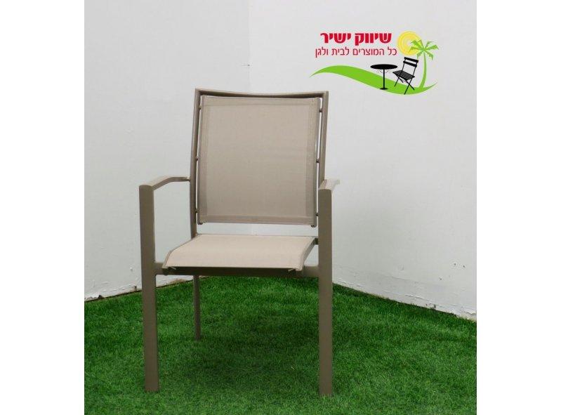 4 כסא אלומיניום דגם בונדי בז'