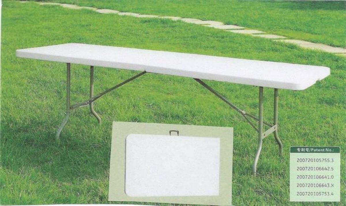 שולחן פלסטיק מתקפל 2.44