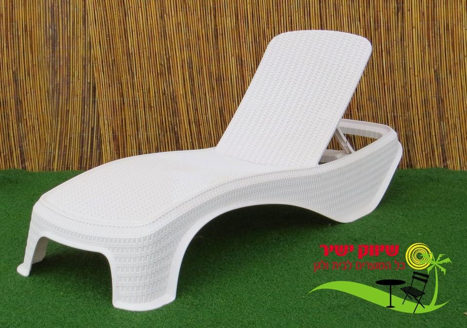 מדהים מיטת שיזוף דגם אטלנטיק לבן - שיווק ישיר KI-27